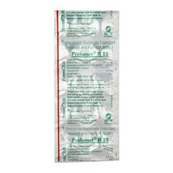 Metoprolol Tartarate 25mg Tablets