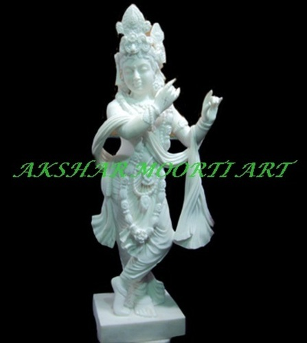 White Marble Krishna Idol Statue Size 1 Feet Rs 11500 Feet