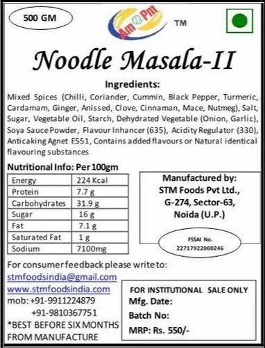 Classic Noodle Masala