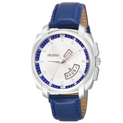 Frosino FRAC061809 Analog Date & Day Function Silver Dial Casual Watch