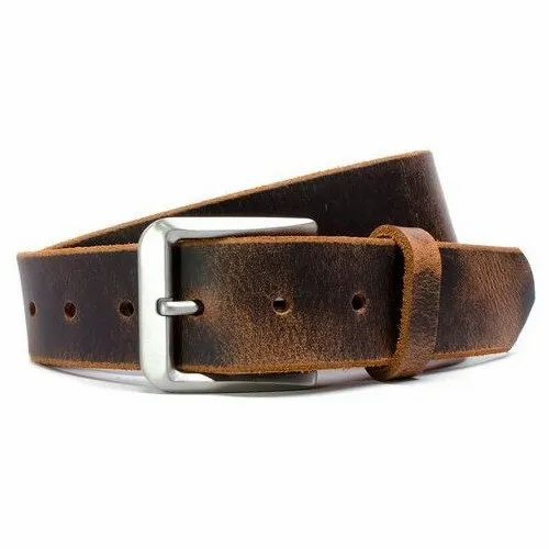 Male Brown B3 Mens Buff Leather Belt, Packaging Type: Roll