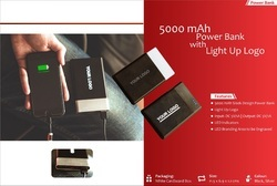 Sleek Powerbank with Light Up Logo