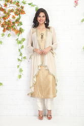PARTY-WEAR KURTI WITH JACKET