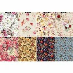 Satin Printed Fabric, GSM: 100-150