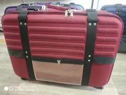 Maroon Heavy Suitcase