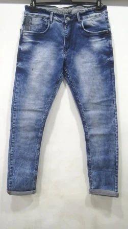 Blue Denim Slim Fit Mens Jeans, Size: 30-32