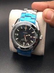 Omega Silver,Black Chronograph Black Watch