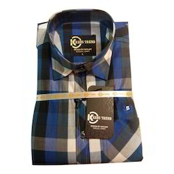 Cotton Mens Casual Check Shirt, Size: L