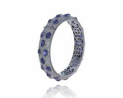 Designer Diamond Gemstone Bangle