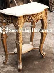 Teak Wood Carved Table