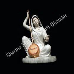 Meera Bai White Marble Statue