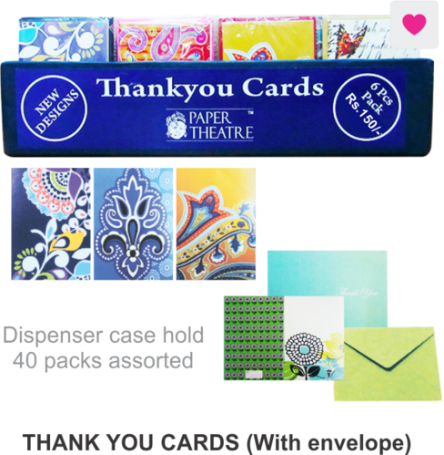 thank you card with envelopes at rs 150 piece 10 greeting cards