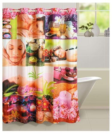 Multi Color Swayam Curtain Concept Printed Polyester Premium Shower 72x84 Multicolor CHW 5603