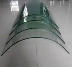 Transparent Bent Glass, Thickness: 12 Mm