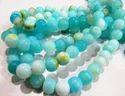 Natural Blue Opal Round Plain Beads