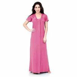 Stitched Daily Wear Ladies Hosiery Maxi Night Gown, Size: XXL