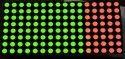 8x8 60mm Green Column Cathode Dot Matrix