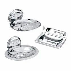Capri Stainless Steel SS Soap Dish, Shape: Rectangular, Material Grade: J-4