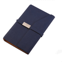 Dark Blue Small Leather Notebook