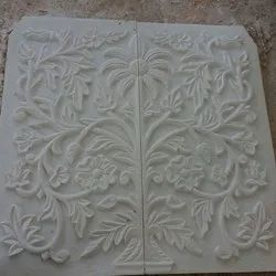 Handmade Marble Tree Carving Work
