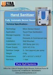 Automatic Hands Free Sanitizer Machine