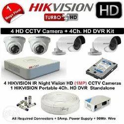 1 MP Hikvision 4 Nos CCTV System Setup