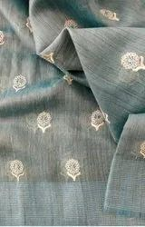 Jute Organza Embroidered Sarees