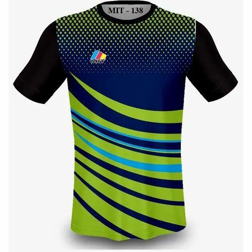 f395e2190 Nylon Men Mens Printed Sports Round Neck T-shirt, Packaging Type: Box