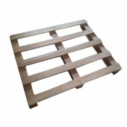 Rectangular Brown Wooden Packaging Pallets