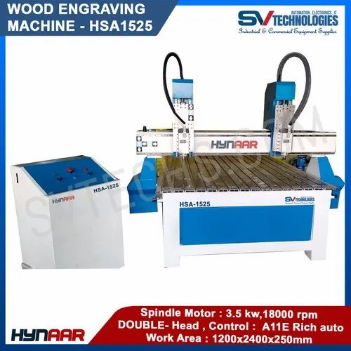 CNC Double Head Stepper Wood Carving Machine