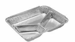 Paramount 3 Cp (Compartment) (820 Ml) Disposable Aluminium Foil  Food Container
