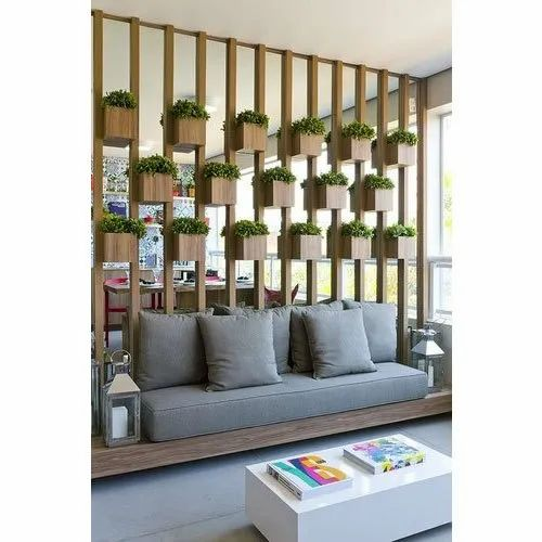 Wood Plant Design Wall Partition For Home Office Rs 450 Per Sqft Id 20928896255