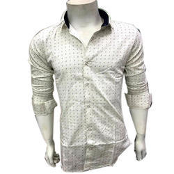 Fashion Fever Cream Designer Shirt, Size: M, L & XL