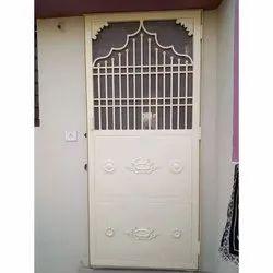 Rectangular Coated Metal Designer Door