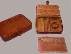 Tan Leather Jewel Case