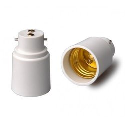 White Bulb Socket Holder