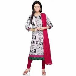 Casual Wear Straight Ladies Cambric Cotton Kurti, Size: M-XXL, Wash Care: Machine wash