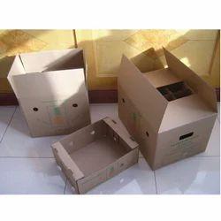 棕色手工水果包装纸盒盒
