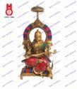 Saraswati Sitting On Throne W/Stone Work Statues