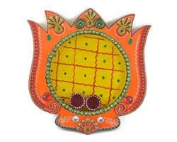 Decorative Multi- Colored Big Pooja Thali