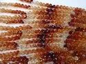 High Quality Natural Hessonite Onion shape Faceted Briolette,Shaded,Brown, Orange