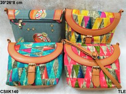 CS International Multicolor Beautiful & Designer Ikkat Sling Bags for Casual Wear