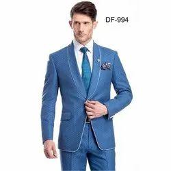 Diwan Saheb DF-994 Mens Blue Western Suit