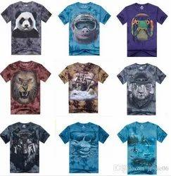 Cotton Free Size Mens Printed T Shirt