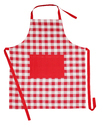 Woven Checker Kitchen Apron