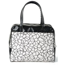 a94bb0158103 Rexine Printed Designer Ladies Bag