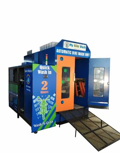 Automatic Two Wheeler Washing System