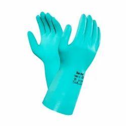 Blue Hand Wear Solvex Nitrile Gloves, Size: Free Size