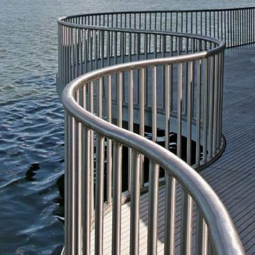 Outdoor Stainless Steel Railings, For Home,Hotel, Mounted ...