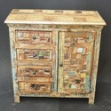 Indian Reclaimed Wood Small Cabinet Sideboard